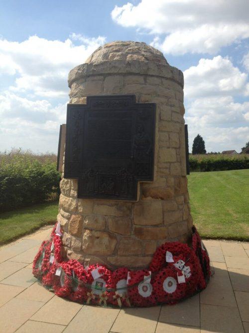 Hearts Memorial cairn